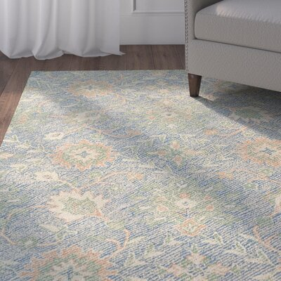 Fairhaven Handmade Blue Indoor/Outdoor Area Rug Rug Size: Rectangle 4' x 6'