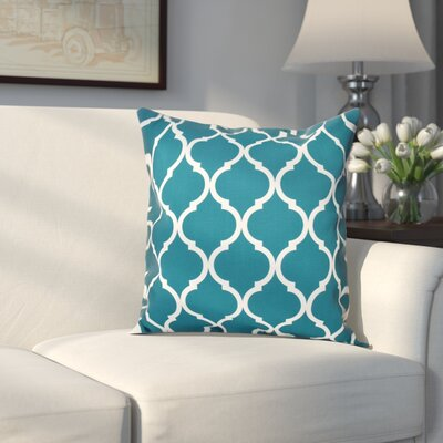 Louis Geometric Print Throw Pillow Size: 18 H x 18 W x 1 D, Color: Deep Sea