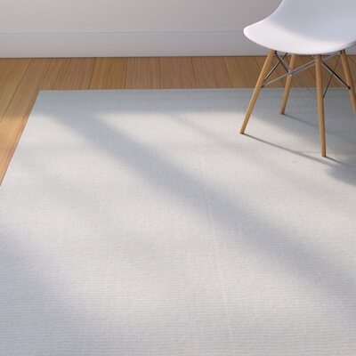 Rodney High-Quality Wool Ultra Soft Solid Textured Blue Area Rug