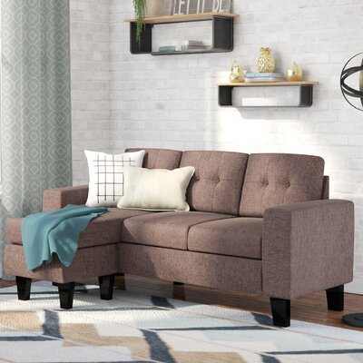 Briley Reversible Sectional Upholstery: Sand