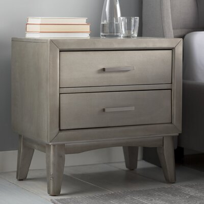 Siding Spring 2 Drawer Nightstand Color: Ash
