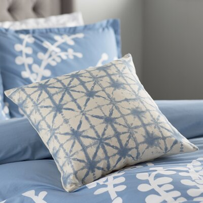 Lida Nebula Pillow Cover Size: 18 H x 18 W x 1 D, Color: BlueNeutral