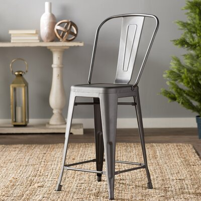 Cerisier 24 Bar Stool Finish: Rustic Pewter