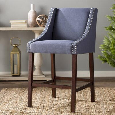 29.5 Bar Stool Upholstery: Navy