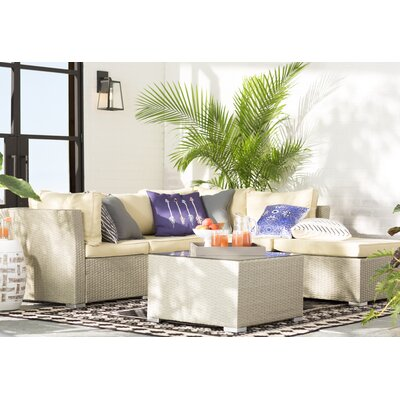 Morrissey 5 Piece Seating Group with Cushion Finish: Natural Rustic Light