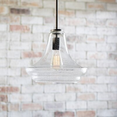 Jewell 1-Light Mini Pendant Finish: Olde Bronze, Size: 11.5 H x 12.5 W x 14.5 D