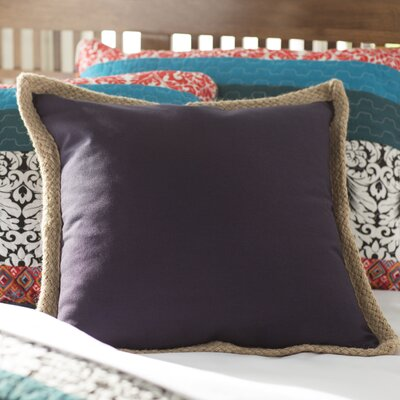 100% Cotton Throw Pillow Color: Navy Blue