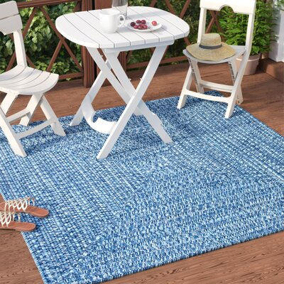 Hawkins Blue Wave Indoor/Outdoor Area Rug Rug Size: Square 6