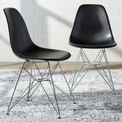 Khang Side Chair Color: Black