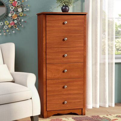 Sybil 6 Drawer Lingerie Chest Color: Cherry