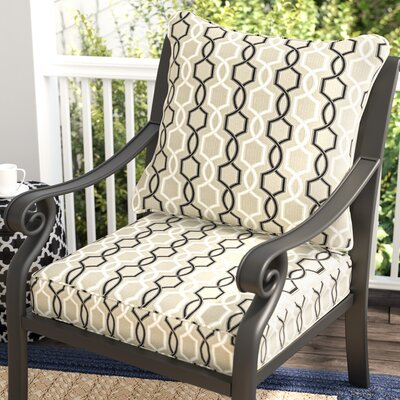 Bank 2 Piece Outdoor Sunbrella Dining Chair Cushion Set
