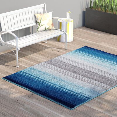 Bennet Blue Indoor/Outdoor Area Rug Rug Size: 52 x 72