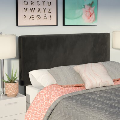 Caroga Upholstered Panel Headboard Size: Twin, Upholstery: Black