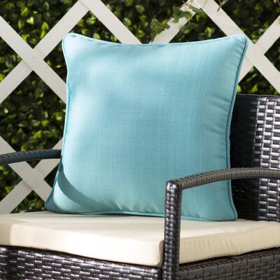 Tadley Corded Outdoor Throw Pillow Color: Turquoise