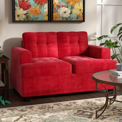 Childress Loveseat Upholstery: Red