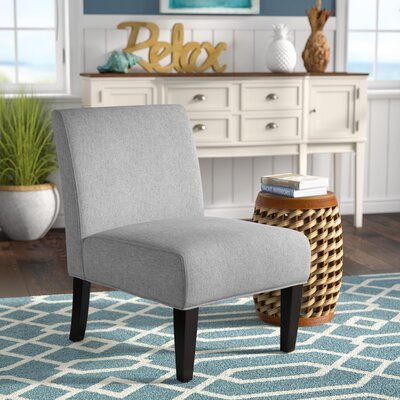 Veranda Slipper Side Chair Upholstery: Light Gray