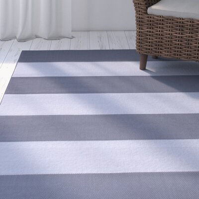 Kirree Gray Indoor/Outdoor All Weather Rug Rug Size: 5 x 7