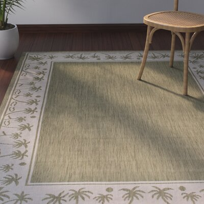 Granada Sage Green Indoor/Outdoor Area Rug Rug Size: 5 x 7