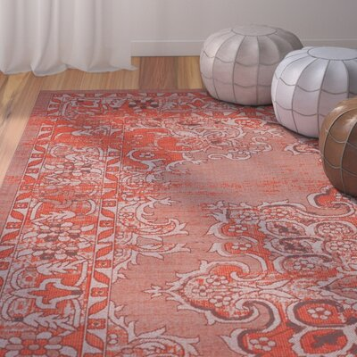 Port Laguerre Orange Area Rug Rug Size: Rectangle 4 x 6
