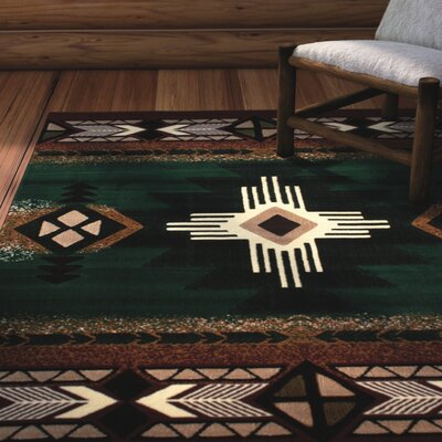 Isaure Hunter Green Area Rug