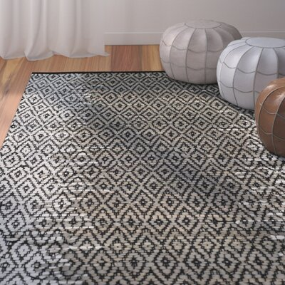 Logan Hand-Woven Light Gray Area Rug Rug Size: 4 x 6