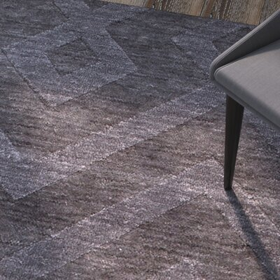 Ramage Ultra-Soft High-Quality Wool Smoke Area Rug Rug Size: 411 x 7