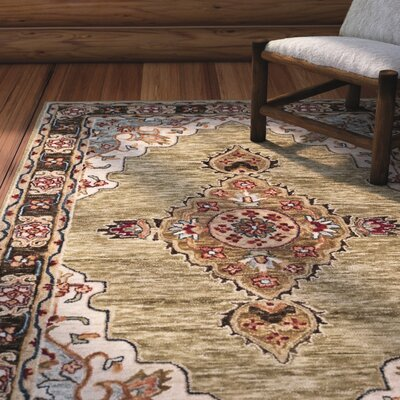 Bobigny Hand-Tufted Sage Area Rug Rug Size: Rectangle 3 x 5