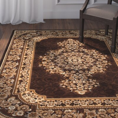 Arkin High Quality Woven Double Shot Drop-Stitch Carving Chocolate Area Rug