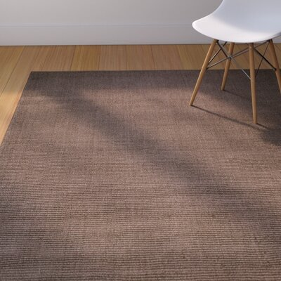 Rodney High-Quality Wool Ultra Soft Solid Textured Chocolate Area Rug