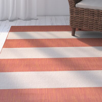 Kirree Terracotta Indoor/Outdoor Area Rug Rug Size: 5 x 7