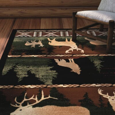 Iberide High-Quality Woven Ultra-Soft Southwest Wilderness Dawn Theme Green Area Rug Rug Size: 39 x 51