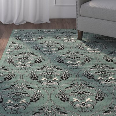 Bloomingdale Blue Area Rug Rug Size: Rectangle 5 x 7
