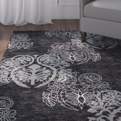 Bloomington Black/Gray Area Rug Rug Size: Rectangle 5 x 77