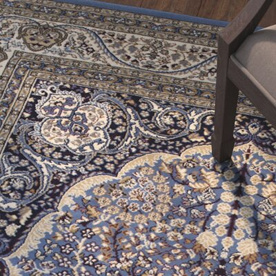 Arison High-End Ultra-Dense Thick Woven Blue Area Rug Rug Size: 53 x 75