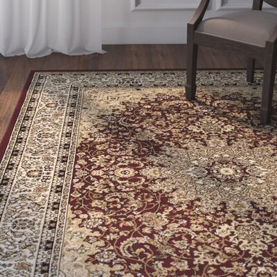 Arison Burgundy Area Rug Rug Size: 67 x 93