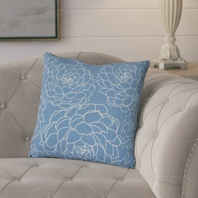 Neville Print Throw Pillow Size: 18 H x 18 W x 3 D, Color: Blue