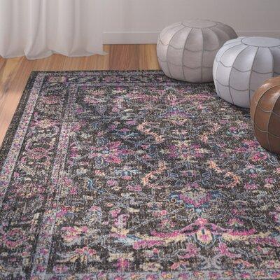 Randhir Brown/Pink Area Rug Rug Size: 710 x 103