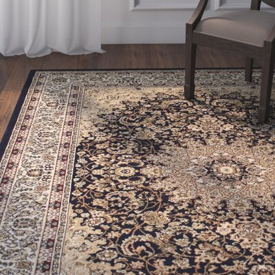 Arison High-End Ultra-Dense Thick Woven Navy Area Rug Rug Size: 67 x 93