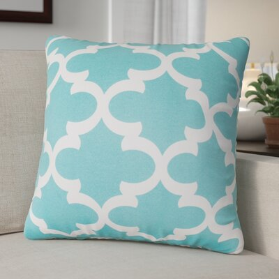 Cashwell Indoor/Outdoor Throw Pillow Size: Large, Color: Teal