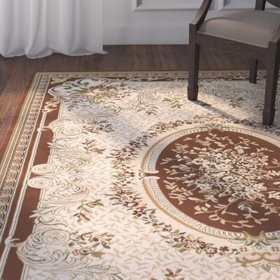 Arison High-End Woven Chocolate Area Rug Rug Size: 53 x 75