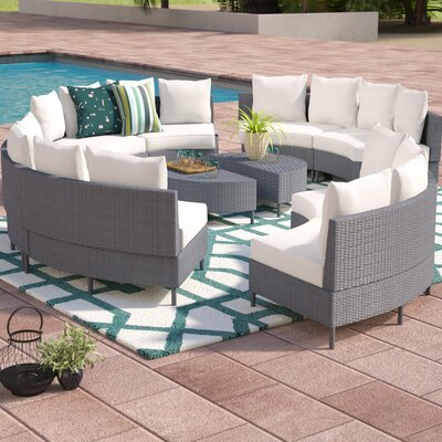 Bencomo 10 Piece Sectional Seating Group with Cushion