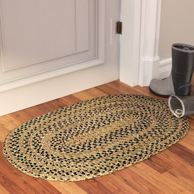 Greenlaw Palm Area Rug Rug Size: Oval 2 x 3