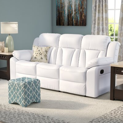 Pavonis Reclining Sofa Upholstery: White
