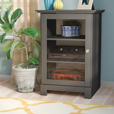 Clifton 1 Door Audio Cabinet in Black