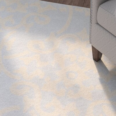 Millwood Hand-Tufted Pale Blue/Butter Area Rug Rug Size: 4' x 6'