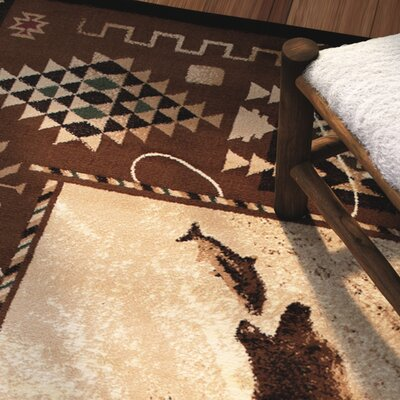 Lacour High Quality Woven Ultra-Soft Traditional Southwest River Theme Berber Area Rug Rug Size: 52 x 72