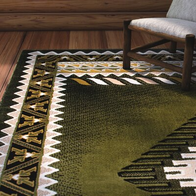 Iberide High-Quality Sage Green Area Rug Rug Size: 710 x 102