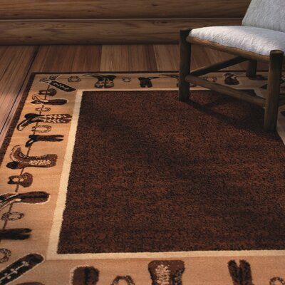 Lacour High Quality Woven Ultra-Soft Cowboy Shoe Berber Area Rug Rug Size: 77 x 106