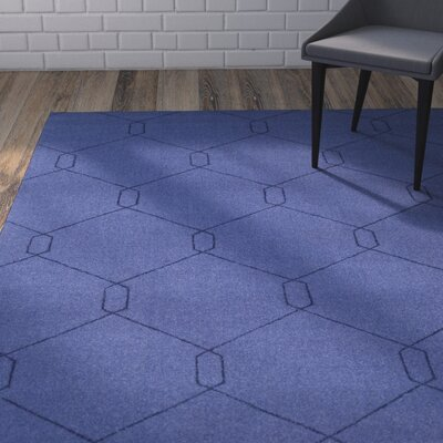Belle Hand-Woven Dark Blue Area Rug Rug Size: Rectangle 8 x 10