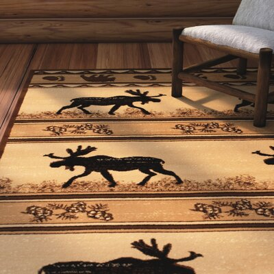 Iberide High-Quality Ultra Soft Berber/Black Area Rug Rug Size: 77 x 106